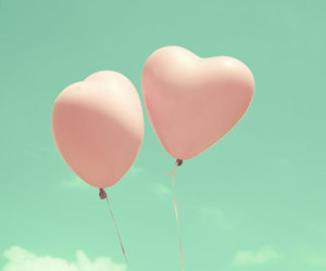 balloons, heart, and photography image