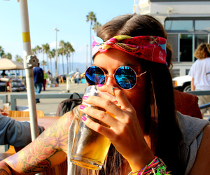 girl, hippie, and summer image