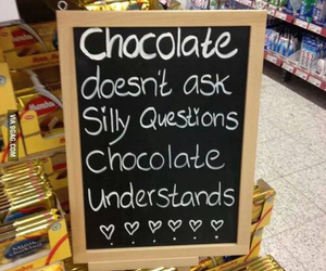 chocolate, quote, and understand image