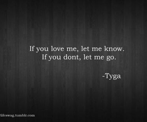 love me, let me go, and quote image