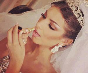 makeup, wedding, and bride image