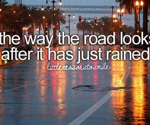 road, quotes, and rain image