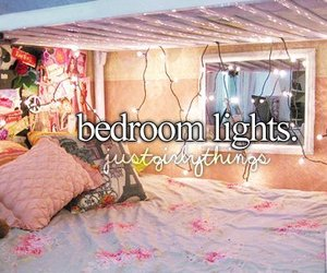 light, bedroom, and justgirlythings image