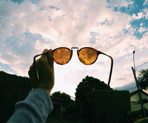 sky, sunglasses, and instagram image