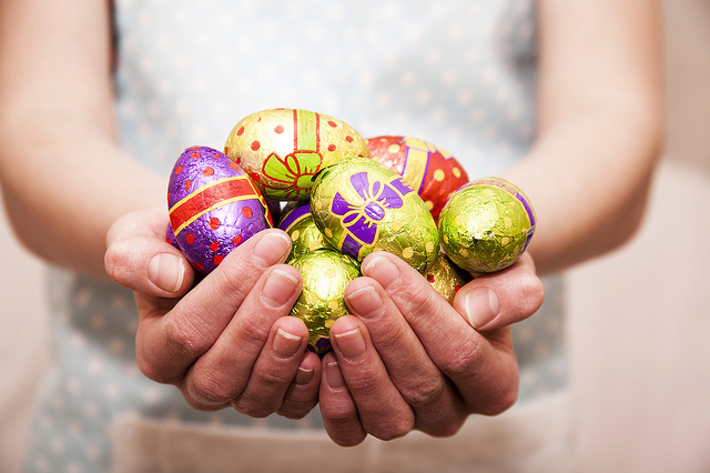 apron, easter, and eggs image
