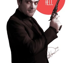 crowley, mark sheppard, and king of hell image