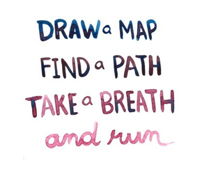quote, run, and path image