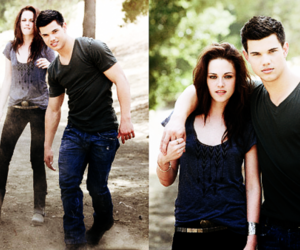couple, kristen, and Taylor Lautner image