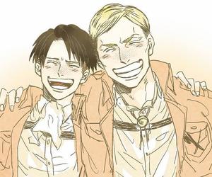 anime, shingeki no kyojin, and Erwin image