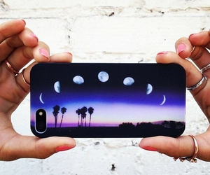 iphone, moon, and case image
