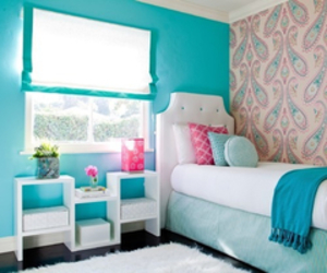 blue, girly, and rooms image