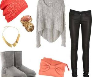 black jeans, casual clothes, and winter outfits image