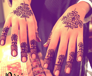 henna, girl, and tattoo image
