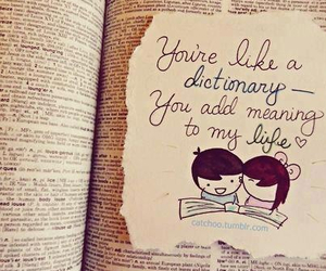 love, dictionary, and quotes image