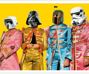 star wars, the beatles, and art image