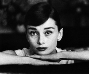 audrey hepburn, black and white, and picture image