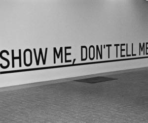 tell, show, and don't me image