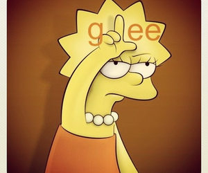 glee, lisa simpson, and loser image