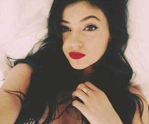 kylie jenner, red lips, and kylie image