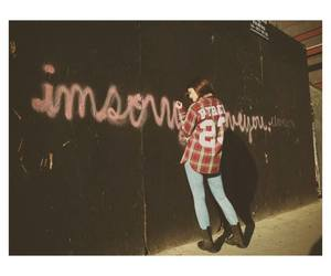 kylie jenner and graffiti image