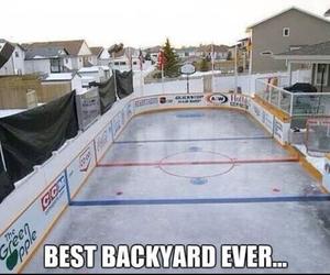backyard, Best, and Ice Hockey image