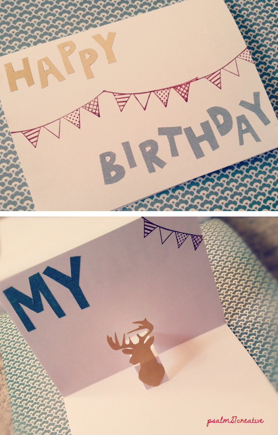 P S A L M 2 7 C R E A T I V E Diy Pop Up Birthday Card For My