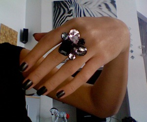 nails, ring, and zebra image