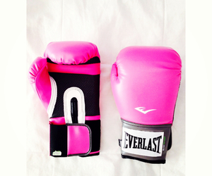 box, boxing gloves, and pink image