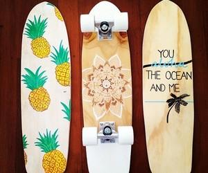 skate, summer, and skateboard image