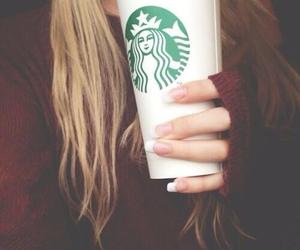 starbucks, coffee, and hair image
