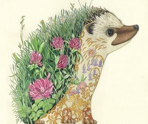 flowers, animal, and art image