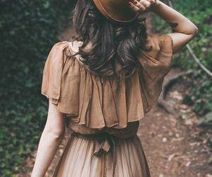 girl, vintage, and dress image