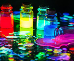 colors, neon, and blue image
