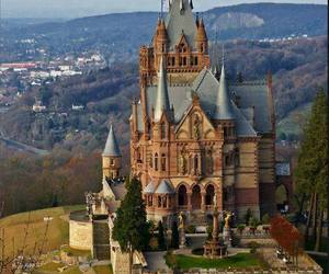 castle, germany, and dragon castle image