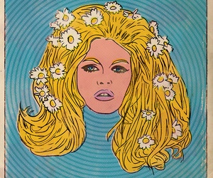 blonde, girl, and flowers image