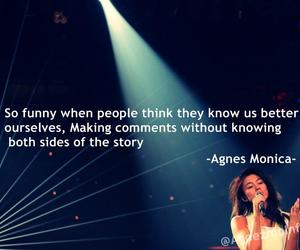 quotes and agnes monica image