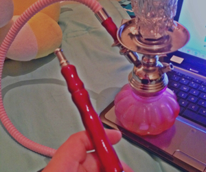 chill, hookah, and pink image