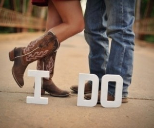 love, I DO, and cowboy image