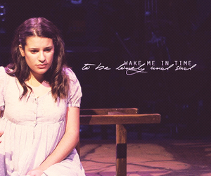 broadway, lea michele, and musical image