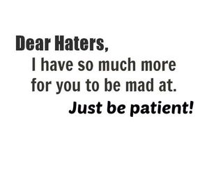 haters, mad, and patient image