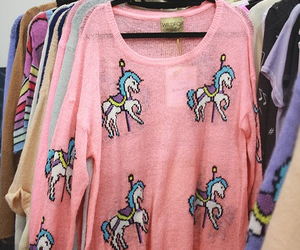 unicorn, pink, and sweater image