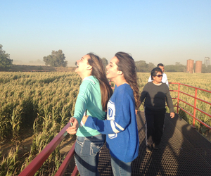 best friends, bffs, and corn maze image