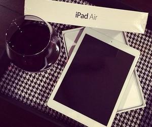 ipad, white, and apple image