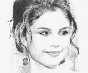 selena, selena gomez, and drawing image