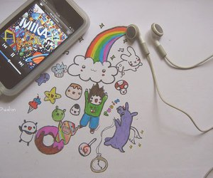 music, mika, and rainbow image