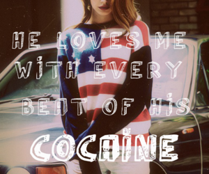 lana del rey, beautiful, and cocaine image