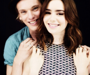 city of bones, lily collins, and Jamie Campbell Bower image