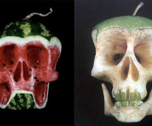 fruit and skull image