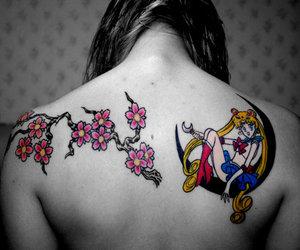 sailor moon, tattoo, and sakura image
