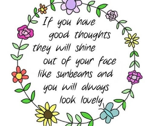 flowers, lovely, and quote image
